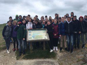 Gruppenfoto an den Klippen von Beachy Head