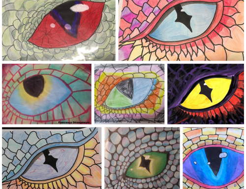 Kunstwerke des Jg. 5 während des Homeschooling