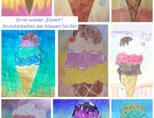 Kunstarbeiten der Klassen 5a und 5b